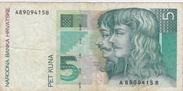 Croatie - Billet De 5 Kuna - 31 Listopada 1993 - Petar Zrinski & Fran Krsto Frankopan - Croacia