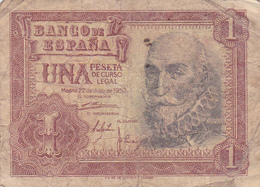 Espagne - Billet De 1 Peseta - 22 Juillet 1953 - Marques De Santa Cruz - [ 3] 1936-1975 : Régimen De Franco