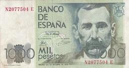 Espagne - Billet De 1000 Pesetas - 23 Octobre 1979 - Benito Perez Galdos - [ 4] 1975-… : Juan Carlos I