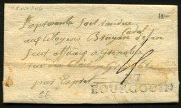 ISERE: Pli De BOURGOIN De 1797 En Port Du Avec Marque 37/BOURGOIN Pour GRENOBLE - Marcophilie (Lettres)