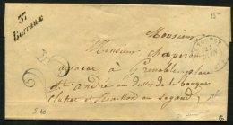 ISERE: Pli De FLACHERE De 1852 En Port Du Avec CàDate T 15 LE TOUVET + Cursive 37 Barraux Pour St ANDRE - Marcophilie (Lettres)