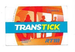 Ticket Transtick : Marseille Provence Métropole. (Voir Commentaire) - Bus