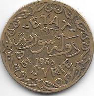 *syria 5 Piastres 1933  Km 70  Vf+ - Syrie