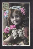 CPA Enfant Jolie Fillette Au Lilas - Pretty Girl - Photo - Portraits