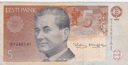 Estonie - Billet De 5 Krooni - Paul Keres - 1994 - Estonie