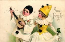 Neujahr, Verkleidete Kinder, 1930 In Altona Versandt - Neujahr