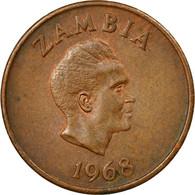 Monnaie, Zambie, Ngwee, 1968, British Royal Mint, TTB, Bronze, KM:9 - Zambie