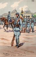 MILITARIA - 5e Génie - Chemins De Fer - Illustrateur Pierre Albert LEROUX - Uniformes
