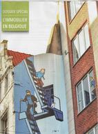 TINTIN, MILOU, CAPITAINE HADDOCK - PUBLICITE L IMMOBILIER EN BELGIQUE - VOIR LE SCANNER - Tintin