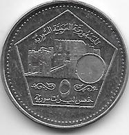 Syria  5 Pounds 2003  Km 129 Unc - Syrie