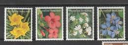 Thailand  Scott 2050-3 MNH  New Year 2003, Flowers  4V - Thailand