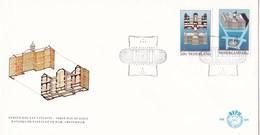 Nederland - FDC - Paleis Op De Dam - Amsterdam - Voorgevel, Doorsnede/In Vogelvlucht - NVPH E205 - Monumenten