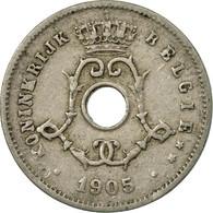 Monnaie, Belgique, 5 Centimes, 1905, Warsaw, TB+, Copper-nickel, KM:55 - 1865-1909: Leopold II