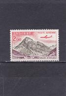 Andorre Français Neuf **  1961-64  Poste Aérienne N° 5  Tourisme. Vallée D'Inclès à Soldeu Et Avion Caravelle - Poste Aérienne