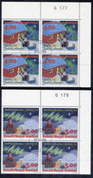 GREENLAND 1994 Christmas In Used Corner Blocks Of 4,  Michel254-55 - Used Stamps