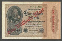 Germany Reichsbanknote 1000 Mark,Overprint 1,000,000,000 Mark 1923 Old 1922 UNC P-113a - [ 4] 1933-1945 : Third Reich