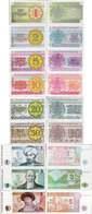 Kazakhstan 1993 - Set 1+2+5+10+20+50 Tyin +1+3+5 Tenge - Pick 1-9 UNC - Kazakhstan