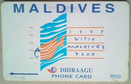 68MLDB Visit Maldives Year 1997   Rf 50    MINT - Maldiven