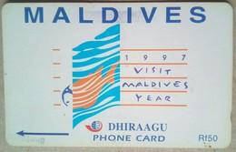 68MLDB Visit Maldives Year 1997   Rf 50    MINT - Maldives