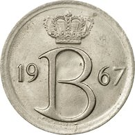 Monnaie, Belgique, 25 Centimes, 1967, Bruxelles, TTB, Copper-nickel, KM:154.1 - 02. 25 Centimes