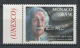 MONACO 2005 N° 2484 ** Neuf MNH Superbe C 1,70 € Albert Einstein Physicien Formule Théories Portrait - Monaco