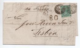 1866 - LETTRE De LONDON  Pour LISBOA / LISBONNE (PORTUGAL) - Marcofilie