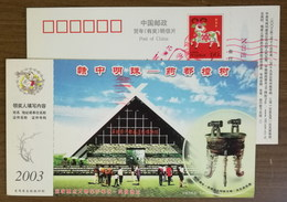 Bronze Tripod,China 2003 Wucheng Museum Large Scale Human Habitation Sites In Shang Dynasty Advert Pre-stamped Card - Archeologia