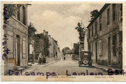 - POURRAIN  - ( Yonne ) - Rue Principale, Pompe A Essence, Caltex ?, Non écrite, Automobile, Plaque, TBE, Scans. - Other Municipalities