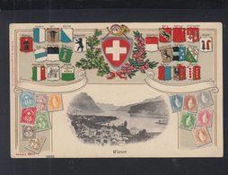 Schweiz AK Weesen 1909 Gelaufen - SG St. Gall