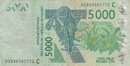 BILLETS - ETATS AFRIQUE DE L'OUEST- 5000 FRANCS CFA N° 03249761772 C 2003 - États D'Afrique De L'Ouest