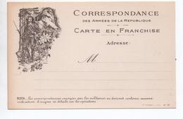 CARTE DE FRANCHISE MILITAIRE NEUVE - CHASSEUR ALPIN / LION DE BELFORT - Cartes De Franchise Militaire