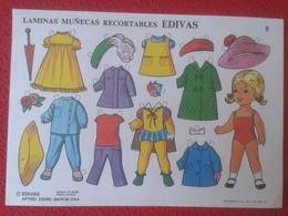 ESPAÑA SPAIN. ANTIGUA LÁMINA HOJA MUÑECAS RECORTABLES EDIVAS BARCELONA 1985 DOLL DOLLS VER FOTO/S Y DESCRIPCIÓN - Documentos Antiguos