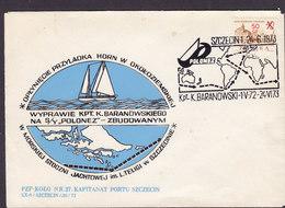 Poland Sonderstempel Kpt. K. Baranowski 'Round The World' Sailing SZCZECIN 1973 Cover Brief - Briefe U. Dokumente