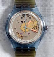 SWATCH AUTOMATIQUE BLUE MATIC SAN 100 • 1991 • NEUVE - Watches: Modern