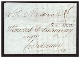 MP 30 TOULOUSE Sur Lettre De TOULOUSE Pour BORDEAUX Du 3 Juillet 1792 - Storia Postale