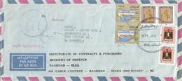 Iraq 1979 Baghdad Ministry Of Defence Official Stamps Dienstmarken Mi 343 536 364 Registered Cover - Irak