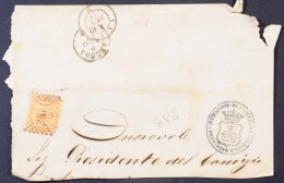 FRC249 - REGNO VITTORIO EMANUELE II - FRAMMENTO DI LETTERA DA CAMERINO -10 CENT DE LA RUE - 1861-78 Vittorio Emanuele II