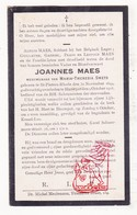 DP Joannes Maes ° Sint-Pieters-Rode Holsbeek 1844 † Blauwput Kessel-Lo 1918 X M.Th. Smets - Imágenes Religiosas