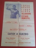 SPAIN ESPAÑA ESPAGNE CARTEL POSTER AÑO YEAR 1967 LUCHA LIBRE WRESTLING CATCH LUTTE RINGKAMPF COMBATE 65 Cm X 44,7 Cm VER - Afiches
