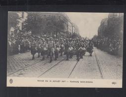 Carte Postale Revue De 14 Juillet 1917 Faubourg Saint-Antoine - Weltkrieg 1914-18