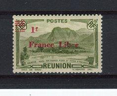 """REUNION - Y&T N° 206* - Salazie Surchargé """"France Libre"""" - La Isla De La Reunion (1852-1975)"""