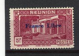 """REUNION - Y&T N° 213* - Musée Léon Dierx à Saint-Denis Surchargé """"France Libre"""" - La Isla De La Reunion (1852-1975)"""