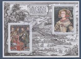 = Les Grandes Heures De L'Histoire Traité Des Pyrénées Et Marie-Thérèse D'Autriche, Bloc Oblitéré 2 Timbres à 2.60 - Usati