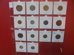 FINLANDE 1897-1996  LOT 14 DIFFERENTES DATES/TYPES - Monnaies & Billets