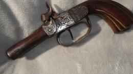 Beau Pistolet A Double Canons - Armes Neutralisées