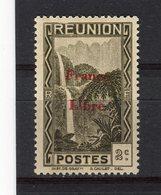 """REUNION - Y&T N° 219* - Cascade De Salazie Surchargé """"France Libre"""" - La Isla De La Reunion (1852-1975)"""