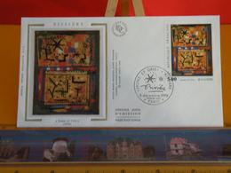 Bissière - Jaune Et Gris - Paris (75) - 8.12.1990 - FDC 1er Jour Coté 3€ - 1990-1999