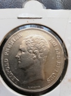 Léopold 1er. 2 1/2 Francs 1848 (rare !) (petite Tete) TTB+ - 1831-1865: Léopoldo I
