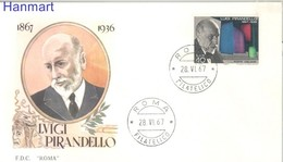 Italy 1967 FDC ( FDC ZE2 ITA1234b ) - Escritores