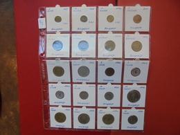 BULGARIE+HONGRIE 1881-2000  LOT 20 MONNAIES DATES/TYPES DIFFERENTS - Coins & Banknotes